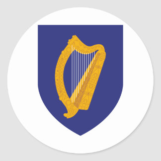 Ireland Coat of Arms Classic Round Sticker