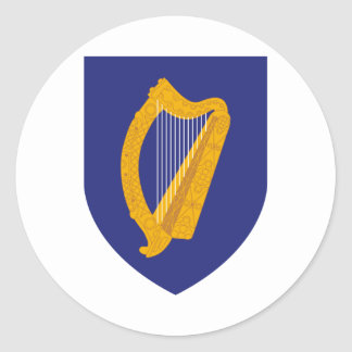 Ireland coat of arms classic round sticker