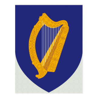 Ireland Coat of Arms detail Postcard