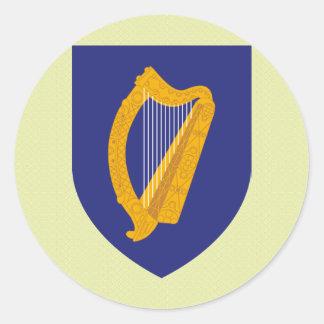 Ireland Coat of Arms detail Round Sticker