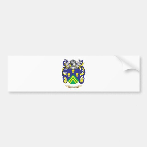 Ireland Coat of Arms (Family Crest) Bumper Stickers