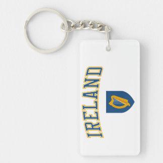 Ireland + Coat of Arms Single-Sided Rectangular Acrylic Keychain