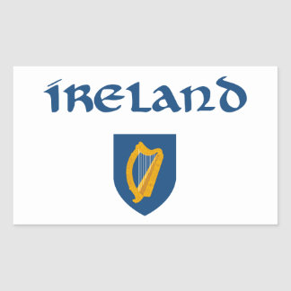 Ireland + Coat of Arms Rectangular Stickers