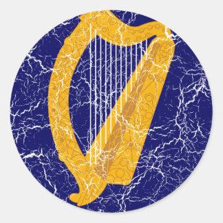 Ireland Coat Of Arms Round Stickers