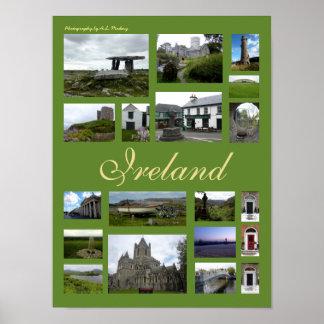 Ireland Collage (Portrait) Poster
