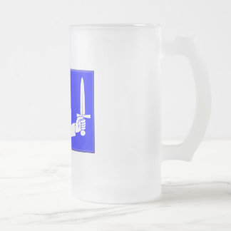 Ireland-Connacht Frosted Glass Beer Mug
