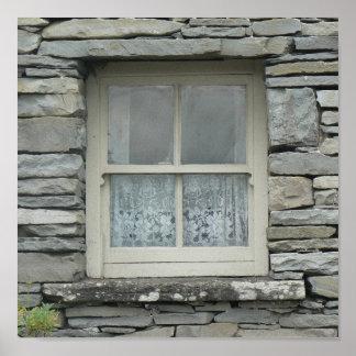 Ireland cottage window poster