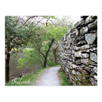 Ireland, County Cork, Stone Wall, Photography, Postcard
