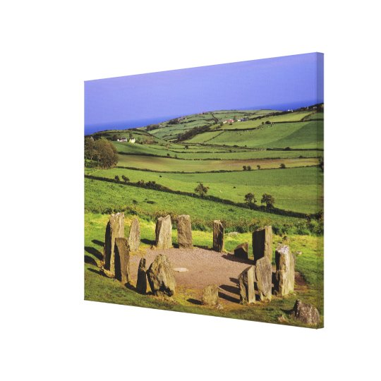 Ireland, County Cork. The Dromberg Stone Canvas Print