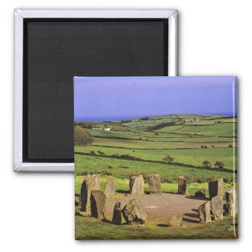 Ireland, County Cork. The Dromberg Stone 2 Inch Square Magnet