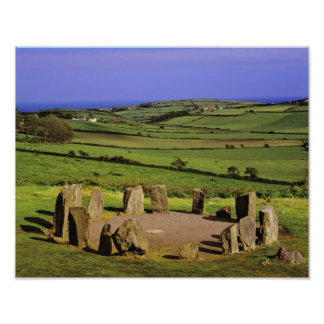 Ireland, County Cork. The Dromberg Stone Poster