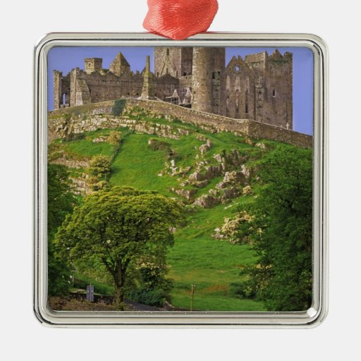 Ireland, County Tipperary. View of the Rock of Square Metal Christmas Ornament