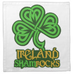 Irish Shamrock Ireland custom cloth napkins