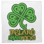 Irish Shamrock Ireland custom cloth napkins