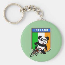 Basic Button Keychain with Irish Cycling Panda design