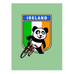 Postcard with Irish Cycling Panda design