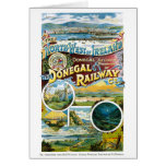 Ireland Donegal Railway Restored Vintage Poster Card