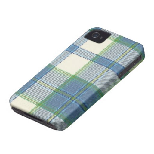 Ireland Dress Blue Tartan iPhone 4/4S Case-Mate Ca iPhone 4 Covers