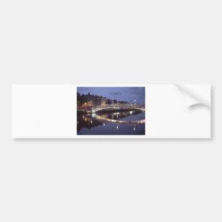 Ireland Dublin Bridge night (St.K) Car Bumper Sticker