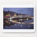 Ireland Dublin Bridge night (St.K) Mouse Pad