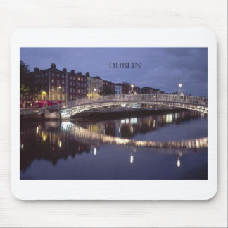 Ireland Dublin Bridge night St K Mousepad