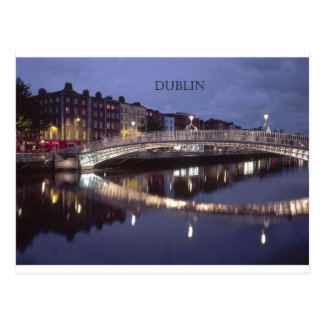 Ireland Dublin Bridge night (St.K) Postcard