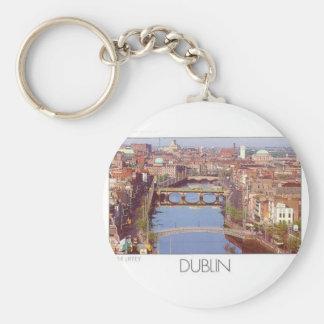 Ireland Dublin River Liffey (St.K.) Basic Round Button Keychain