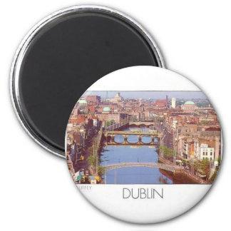 Ireland Dublin River Liffey (St.K.) 2 Inch Round Magnet