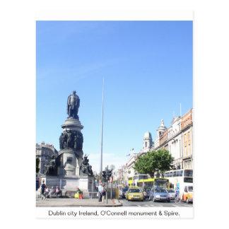 Ireland, Dublin Spire & O'Connell Monument Postcard