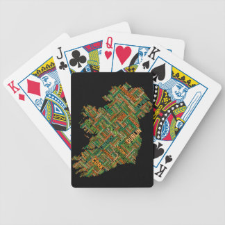 Ireland Eire City Text map Bicycle Playing Cards