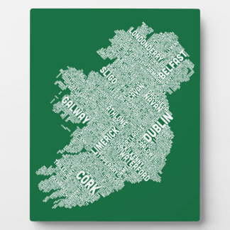 Ireland Eire City Text map Display Plaques