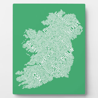 Ireland Eire City Text map Photo Plaques