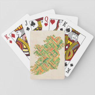 Ireland Eire City Text map Playing Cards