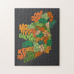 Ireland Eire County Text Map Jigsaw Puzzle