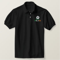 IRELAND Eire Embroidered Soccer Polo Shirt