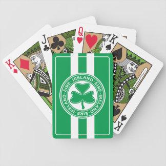 Ireland Éire Gaelic Shamrock Symbol Bicycle Playing Cards