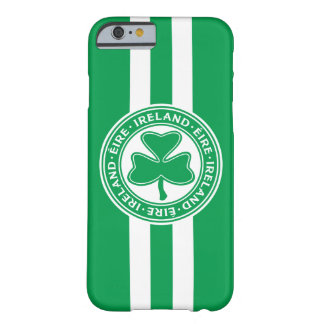 Ireland Éire Shamrock Green and White Barely There iPhone 6 Case