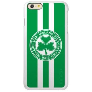 Ireland Éire Shamrock Green and White Incipio Feather Shine iPhone 6 Plus Case
