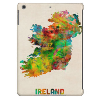 Ireland Eire Watercolor Map iPad Air Covers