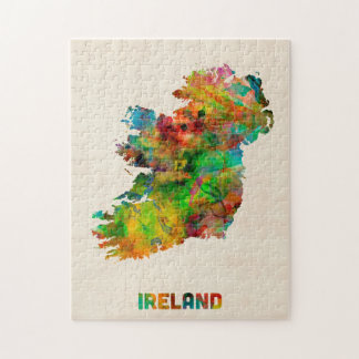 Ireland Eire Watercolor Map Jigsaw Puzzle