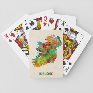 Ireland Eire Watercolor Map Playing Cards