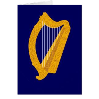 ireland emblem greeting card
