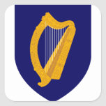 ireland emblem square sticker