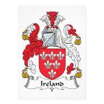Ireland Family Crest Custom Invitations