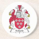 Ireland Family Crest Drink Coaster