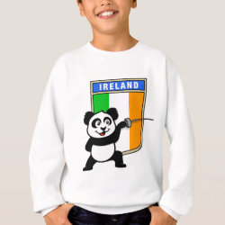 Kids' American Apparel Organic T-Shirt with Irish Fencing Panda design
