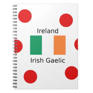 Ireland Flag And Irish Gaelic Language Design Notebook