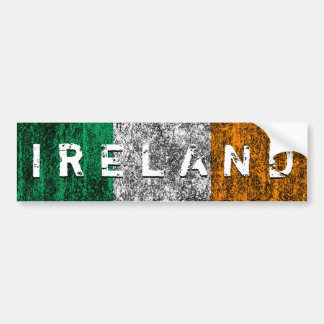 ireland flag car bumper sticker