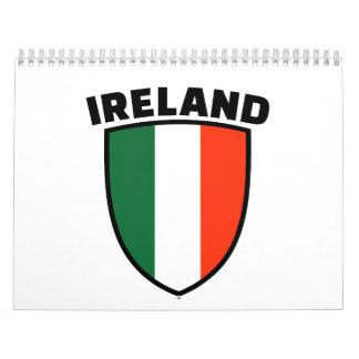 Ireland flag wall calendars