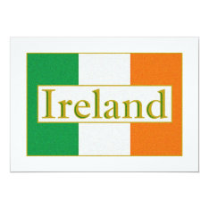 Ireland Flag Card at Zazzle